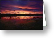 Chromatic Greeting Cards - Dramatic Shot Of A Flamboyant Sky Greeting Card by Michael S. Quinton