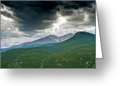 Meeker Greeting Cards - Dramatic Skies in Rocky Mountain National Park Colorado Greeting Card by Brendan Reals