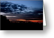 Victoria Wise Greeting Cards - Dramatic Sunset Greeting Card by Victoria Wise
