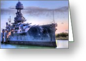 Texan Greeting Cards - Dreadnought Greeting Card by JC Findley