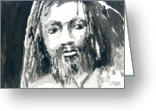 Dreadlocks Greeting Cards - Dreads Greeting Card by Arline Wagner