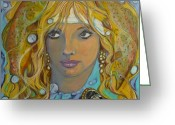 Crayon Painting Greeting Cards - Dream a Little Dream Greeting Card by Todd  Peterson