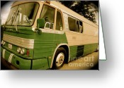 Star-spangled Banner Greeting Cards - Dream Bus Greeting Card by Chuck Taylor