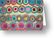 Aboriginal Art Painting Greeting Cards - Dream Circles Greeting Card by Karla Gerard
