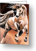 Quarter Horse Greeting Cards - Dream Horse Series 16 Greeting Card by Cheryl Poland