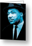 Martin Luther King Greeting Cards - Dream Greeting Card by Jeff Nichol