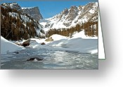 Snow Framed Prints Greeting Cards - Dream Lake Rocky Mountain Park Colorado Greeting Card by James Steele