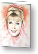 Jeanie Greeting Cards - Dream of Jeannie Greeting Card by Lena Day
