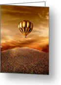 Golden Digital Art Greeting Cards - Dream Greeting Card by Photodream Art