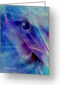 Eagle Prints Greeting Cards - Dream State Greeting Card by Madeline M Allen