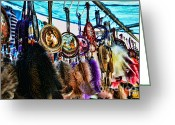 Lakota Greeting Cards - Dreamcatcher Greeting Card by Paul Ward