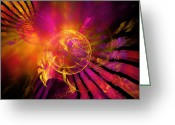 Twirl Greeting Cards - Dreamcatcher Greeting Card by Ricky Barnard