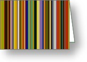 Stripe.paint Greeting Cards - Dreamcoat Designs Greeting Card by Michelle Calkins