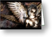 Angel Digital Art Greeting Cards - DreamCypher Greeting Card by Mandem