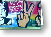 Wall Street Painting Greeting Cards - Dreamers Greeting Card by Tony B Conscious