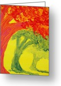 Escobar Greeting Cards - Dreaming and Shadows Greeting Card by Laurette Escobar