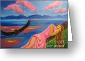 Diana Riukas Greeting Cards - Dreaming at Eagle Lake Greeting Card by Diana Riukas