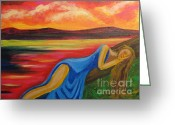 Diana Riukas Greeting Cards - Dreaming at Sunrise Greeting Card by Diana Riukas