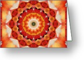 Sacred Geometry Greeting Cards - Dreaming Greeting Card by Bell And Todd