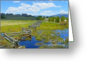 Cloudscape Photographs Greeting Cards - Dreaming Landscapes - Stories of the Spring Season Greeting Card by Photography Moments - Sandi