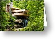 Lloyd Greeting Cards - Dreaming of Fallingwater Greeting Card by Rachel Cohen