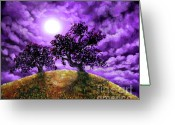Laura Milnor Iverson Greeting Cards - Dreaming of Oak Trees Greeting Card by Laura Iverson