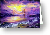 Laura Milnor Iverson Greeting Cards - Dreaming of San Francisco Greeting Card by Laura Iverson