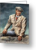 John Wayne Greeting Cards - Dreaming of WhiteOMorn Greeting Card by Kim Lockman