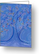 Magic Pastels Greeting Cards - Dreaming Tree by jrr Greeting Card by First Star Art