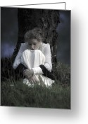 Blonde Photo Greeting Cards - Dreaming Under A Tree Greeting Card by Joana Kruse