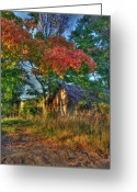 Autumn In The Country Photo Greeting Cards - Dreams Abandon Greeting Card by Robert Pearson