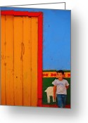 Guatape Greeting Cards - Dreams of Kids Greeting Card by Skip Hunt