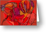 Embrace Drawings Greeting Cards - Dreams Greeting Card by Robert Trauth