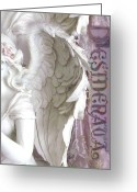 Desiderata Greeting Cards - Dreamy Angel Art - Angel Wings Desiderata  Greeting Card by Kathy Fornal