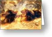 Brushes Digital Art Greeting Cards - Dreamy Clouds Greeting Card by Andrea Barbieri