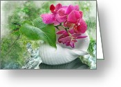 Dreamy Flower Greeting Cards - Dreamy Greeting Card by Manfred Lutzius
