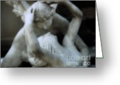Eros And Psyche Greeting Cards - Dreamy Paris Eros and Psyche Romantic Sculpture  Greeting Card by Kathy Fornal