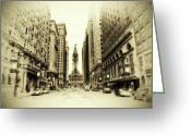 City Hall Digital Art Greeting Cards - Dreamy Philadelphia Greeting Card by Bill Cannon