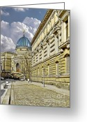 Art Of Building Greeting Cards - Dresden Academy of Fine Arts Greeting Card by Christine Till