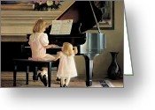 Piano Greeting Cards - Dress Rehearsal Greeting Card by Greg Olsen