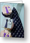 Shirts Greeting Cards - Dress Shirt Cupcakes Greeting Card by Garry Gay