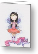 Pretending Greeting Cards - Dressing Up Greeting Card by Sarah LoCascio