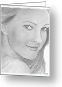 Drew Barrymore Greeting Cards - Drew Barrymore Greeting Card by David Seter