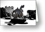 Philadelphia Greeting Cards - Drexel Dragon Greeting Card by Bill Cannon