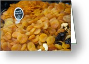 Apricots Photo Greeting Cards - Dried Fruit for Sale Greeting Card by Inti St. Clair