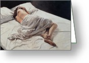 Pillows Greeting Cards - Drifting  Greeting Card by John Worthington