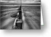 On The Beach Greeting Cards - Drifting sands Greeting Card by John Farnan