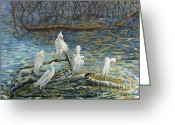 Carolinestreet Greeting Cards - Driftwood Greeting Card by Caroline Street