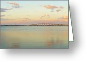 Jensen Beach Greeting Cards - Driftwood Dock at Dusk Greeting Card by Lynda Dawson-Youngclaus