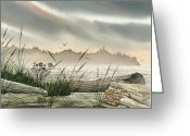 Card Art Greeting Cards - Driftwood Glow Greeting Card by James Williamson